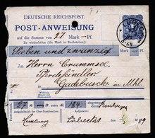 A5721) DR Postanweisung Lübeck 1.3.89 N. Gadebusch - Storia Postale