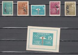 Albania 1962,5V+Block,IMP,Tokio 1964,olympic,olympisch,olympische,olympique,olympicos,olimpici,MNH/Postfris(L3320) - Zomer 1964: Tokyo