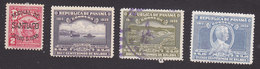 Panama, Scott #321A, 326-328, Mint Hinged/Used, Arms Overprinted, Ferryboat, Canal, Gorgas, Issued 1939 - Panama