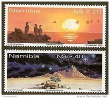 NAMIBIA, 1999, MNH  Stamps, Sunset & Sunrise, Michel 1002-1003 #13470 - Namibia (1990- ...)