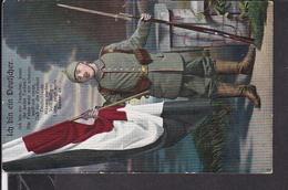 """Postkarte """" Ich Bin Ein Deutscher """" Feldpost 1918 - Guerra 1914-18"""