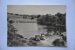 MONTSALVY-lac De Montsalvy-pecheurs-voitures Anciennes Dont 4 Cv - France