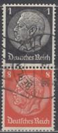 DR S 135 Gestempelt, Hindenburg 1936/37 - Zusammendrucke