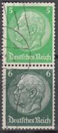 DR S 187, Gestempelt, Hindenburg 1939 - Zusammendrucke