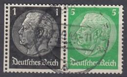DR W 71, Gestempelt, Hindenburg 1939 - Zusammendrucke