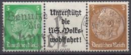 DR W 74, Gestempelt, Hindenburg 1939 - Zusammendrucke