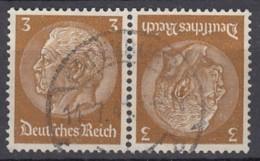 DR K 22, Gestempelt, Hindenburg 1940 - Zusammendrucke