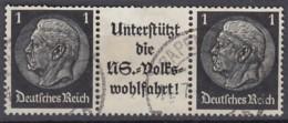 DR W 92, Gestempelt, Hindenburg 1940 - Zusammendrucke