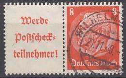 DR W 87, Gestempelt, Hindenburg 1940/41 - Zusammendrucke