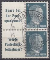 DR W 151 + 152 Im 4erBlock, Gestempelt, AH 1941 - Se-Tenant