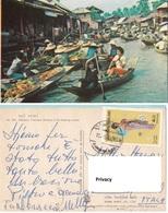 Tailandia N° 369 Dhonburi. Thailand : Scenery Of The Floating Market. - Mercati