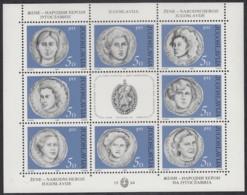 JUGOSLAWIEN  2035-2042, Kleinbogen, Postfrisch **, Tag Der Frau: Jugoslawische Volksheldinnen 1984 - Blocks & Kleinbögen