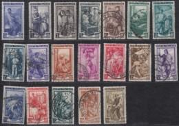 ITALIEN 807-825, Gestempelt, Arbeit, Handwerk, Berufe, 1950 - 1946-60: Gebraucht
