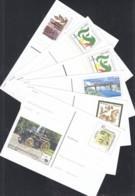 BRD  PSo 74 - 76, PSo 78-80, 6 Postkarten Mit Frankaturgültigem Sonderwertstempel 2001-2002 - BRD