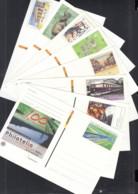 BRD  PSo 90, PSo 93 - 99, 8 Postkarten Mit Frankaturgültigem Sonderwertstempel 2005-2008 - BRD