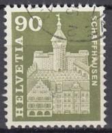 SCHWEIZ, 709, Gestempelt, Mit Abart: Grünes Waagerechtes Quadrat In Dachgiebel Des Linken Hauses, Munot 1960 - Variétés