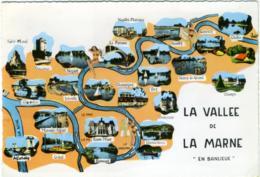 VALLEE DE LA MARNE  En Banleue  Champigny Joinville Ormesson ST-Maur Bry Neuilly Noisy Vincennes Créteil Alfortville - Carte Geografiche