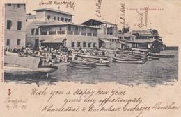 ZANZIBAR. LONDIN PIER. A.C.GOMES& C. CIRCCULEE 1899 A ADEM-RARISIME- BLEUP - Tanzania
