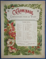 CAF CONC PIANO GF PARTITION XIX CÉCILE CHAMINADE AIR DE BALLET OPUS 30 ILL BORIE COSTALLAT 1884 - Musique & Instruments