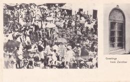 GREATINGS FROM ZANZIBAR. MULTI VUE VIEW VISTA. CIRCA 1900s-RARISIME- BLEUP - Tanzania