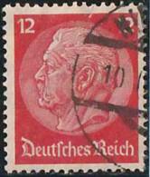 Allemagne Empire 1933 Yv. N°490 - 12p Rouge Carminé - Oblitéré - Allemagne