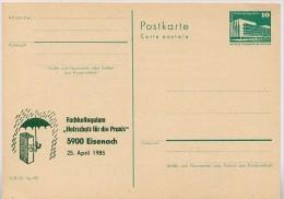 DDR P84-8-85 C112 Postkarte Zudruck HOLZSCHUTZ EISENACH 1985 - Postales Privados - Nuevos