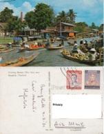 Tailandia. Floating Market  (watSai) Near Bangkok, Thailand - Mercati