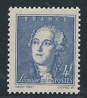FRANCE 1943 - YT N°581 - 4 F. Bleu - Antoine Laurent De Lavoisier - Neuf** - TTB Etat - Unused Stamps