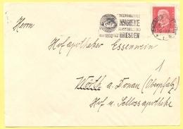 Deutsches Reich - 1930 - 15 + Flamme Dresden Internationale Hygiene Ausstellung - Fragment - Viaggiata Da Dresden Per Wö - Storia Postale