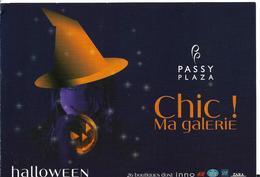 HALLOWEEN CHIC MA GALERIE PASSY PLAZA CARTON PUBLICITAIRE - Halloween
