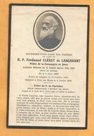 IMAGE GENEALOGIE FAIRE PART DECES MORTUAIRE R PERE CLERET DE LANGAVANT WWI  AUMONIER MILITAIRE LE MANS 1881 1929 - Décès