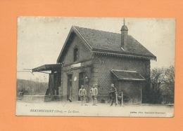 CPA Souple - Berthecourt  -( Oise ) - La Gare - Francia