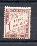FRANCE TAXE N°25 - 1876-1898 Sage (Tipo II)