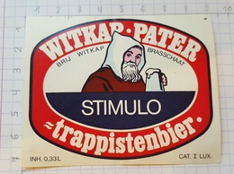 ETIQUETTE WITKAP-PATER TRAPPISTENBIER STIMULO - Bière