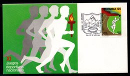 COLOMBIA- KOLUMBIEN- 1980. FDC/SPD. XI NATIONAL GAMES - Colombie