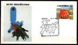 COLOMBIA- KOLUMBIEN- 1980. FDC/SPD. MODERN ART- SCULPTURE BY NEGRET - Colombie