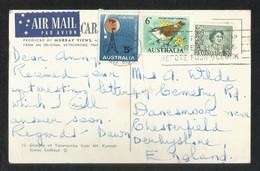 Australia Slogan Postmark Air Mail Postal Used Picture Postcard With Stamps  Birds Animal - Australia