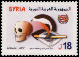 Syria 2001 World No Smoking Day Unmounted Mint. - Syria