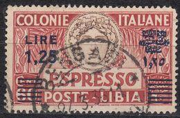 LIBIA (COLONIA ITALIANA) -  Yvert Espresso 10a Usato, Come Da Immagine - Libia