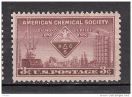 USA, MNH, Chimie, Chemistry, Diamond Jubilee, Pétrochimie, Pétrole, Oil, Petroleum, Aigle, Eagle, Oiseau, Bird, Rapace - Oil