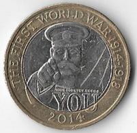 United Kingdom 2014 £2 World War One [C804/2D] - 1971-… : Monete Decimali