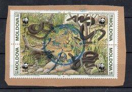 MOLDAVIE - MOLDOVA - WWF - SNAKES - SERPENTS - BLOC DE 4 - 1993 - - Moldavie