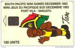 Vanuatu Nouvelles Hebrides Telecarte Phonecard Mini Jeux Pacifique South Pacific Game Mascotte Tam Drapeau Ut 150 U. TBE - Vanuatu