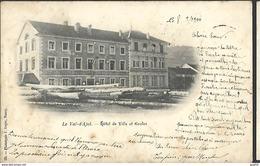 Le  Val D ' Ajol Hotel De Ville Et Ecoles CACHETS Convoyeur, Gare  CPA 1900 - France