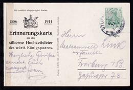 Erinnerungskarte An Die Silberne Hochzeitsfeier Des Württ. Königspaares - Allemagne