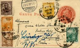 BUENOS AIRES - 1908 , Letter Card , Kartenbrief Nach Berlin - Argentinien
