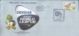 India 2017 Odisha World Hockey League Special Cover Inde Indien Sports Turtle Mascot - Hockey (Veld)