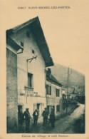 H203 - 38 - SAINT-MICHEL-LES-PORTES - Isère - Entrée Du Village Et Café Dumas - Guide Du Mont Aiguille - Otros Municipios