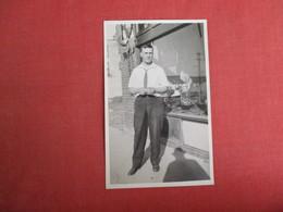 RPPC   Man Outside Store    Ref. 3084 - Postcards