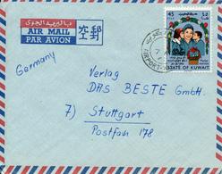 KUWAIT AIRPORT - 1966 , Letter To Stuttgart - Kuwait